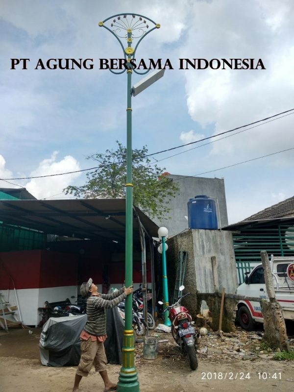 Tiang Lampu Pju All In One Murah